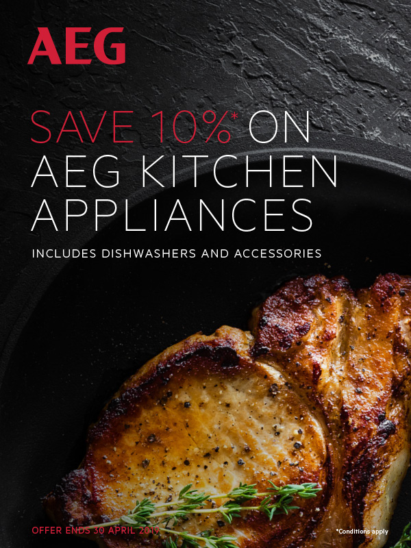SAVE 10% ON AEG KITCHEN APPLIANCES