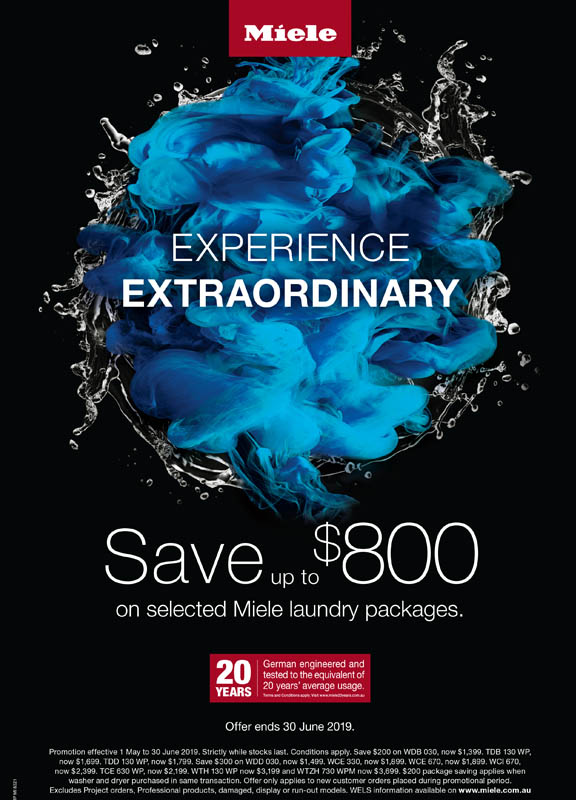 save up to 800 on Miele laundry packages