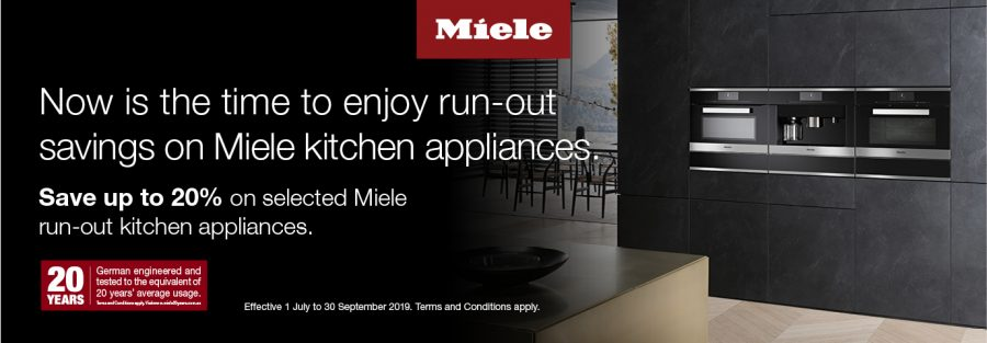 save up to 20% on selected MIELE RUN OUT APPLIANCES