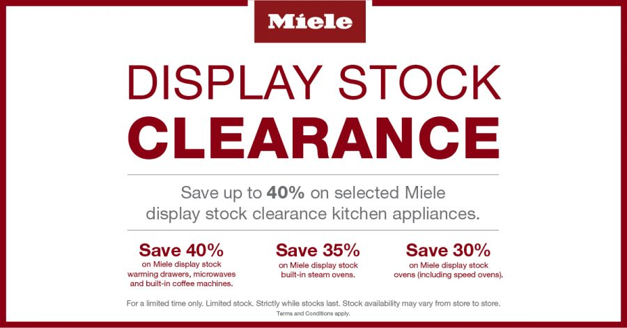 Save up to 40% on Miele kitchen Appliances