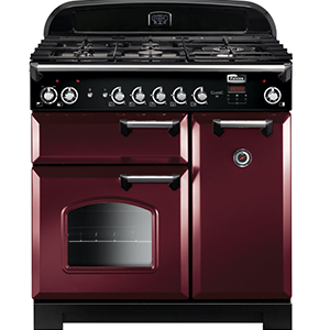 FALCON CLASSIC CLA90DFFCY-CH CRANBERRY DUAL FUEL