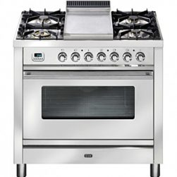 Ilve P90FWMP-I 90cm Upright Cooker with Tepanyaki