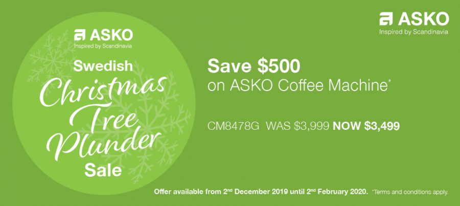 Save $500 on ASKO Coffee Machines