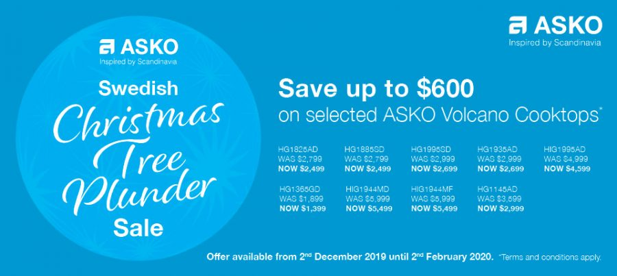 SAVE UP TO $600 on Asko Volcano Cooktops