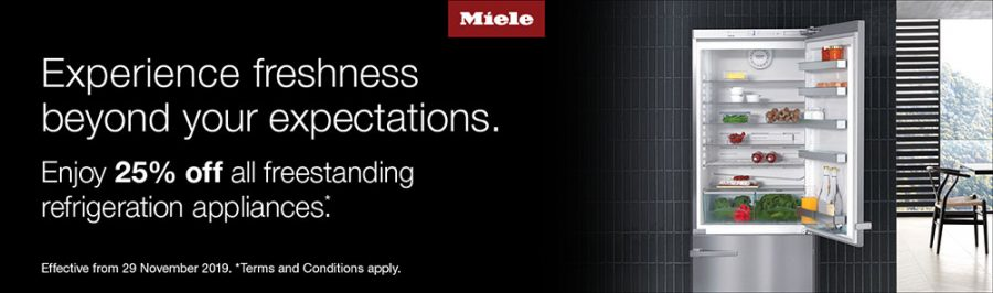 25% OFF ALL FREESTANDING MIELE REFRIGERATION