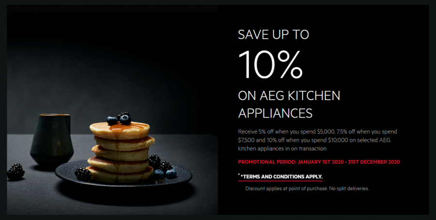 SAVE 10% WHEN YOU PURCHASE AN ELIGIBLE AEG WASHER & DRYER in one transaction
