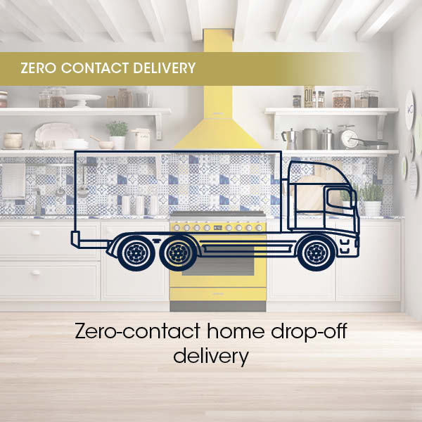 Zero contact home drop off delivery