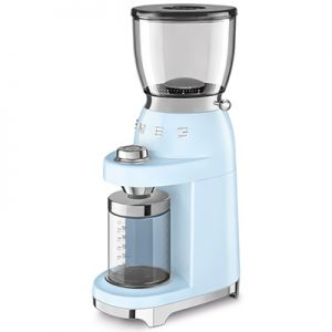 smeg coffee grinder pastel blue