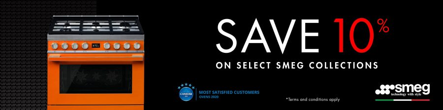 SAVE 10% ON SELECTED SMEG COLLECTIONS